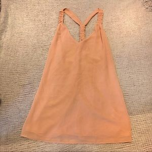Naked Zebra Coral colored Tank size small